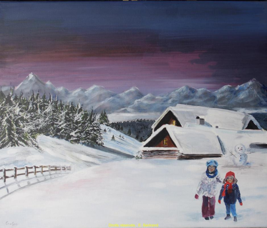 Mes petites filles à la neige Filles-a-la-neige
